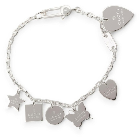 7f40faf12 Gucci Jewelry | 925 St Silver Trademark Charm Bracelet | Poshmark